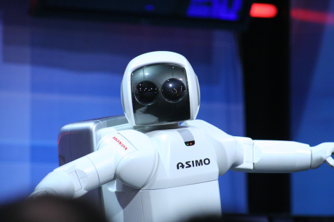 Honda's ASIMO (Advanced Step in Innovative MObility) Robot (Source: WikiMedia Commons)