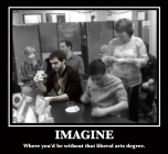 Where you'd be without that liberal arts degree.