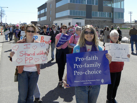 Rally to support Planned Parenthood in St. Paul, Minnesota. April 6, 2012. (Source: Flickr)